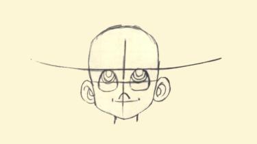 これで君も人気絵師だ!? 三平くんの似顔絵ガイド